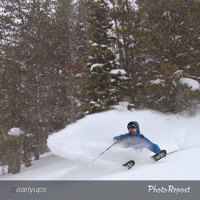 Surf's up across the mountain west. @jj_0909 from @earlyups shredding on the new Lotus 138 #Spoon. #dpsskis.