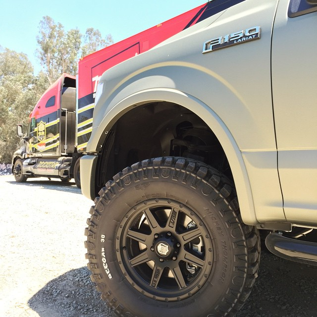 The New Deegan38 pro4 wheels and tires are in stock now at stores like 4wheelparts.com . @4wheelpartsofficial @mickeythompsontires #Deegan38 #tires #wheels @ford #offroad
