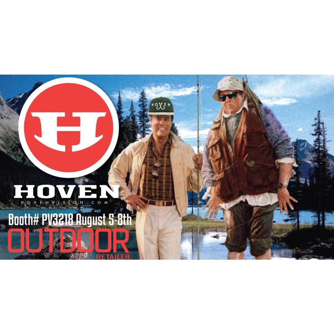 The Hoven team is at it again for @outdoorretailer in Utah. If you're in the area, stop on by booth #PV3218 and say hello. ⛺️ Dont forget to bring your canteen because it's warm out