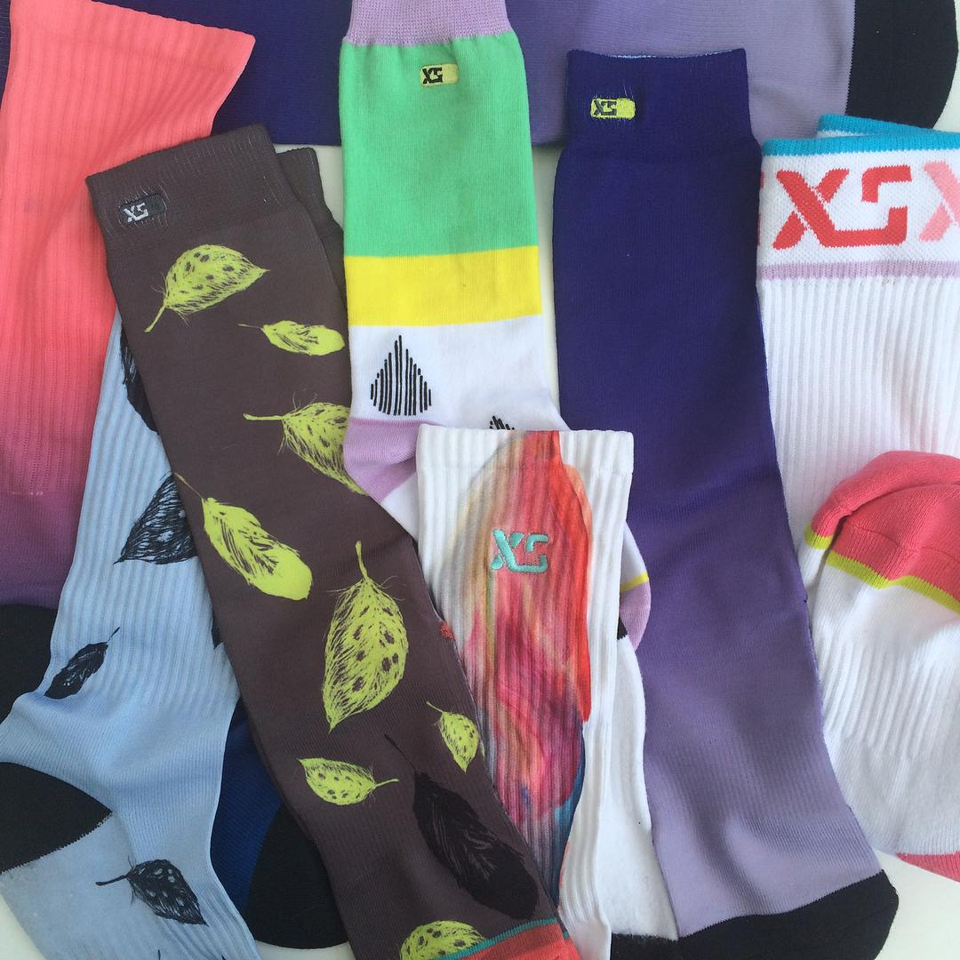 We're sending out some new XS socks to team riders to try out! Just got our first run samples so be patient! We're working hard to get all 15 designs in stock soon