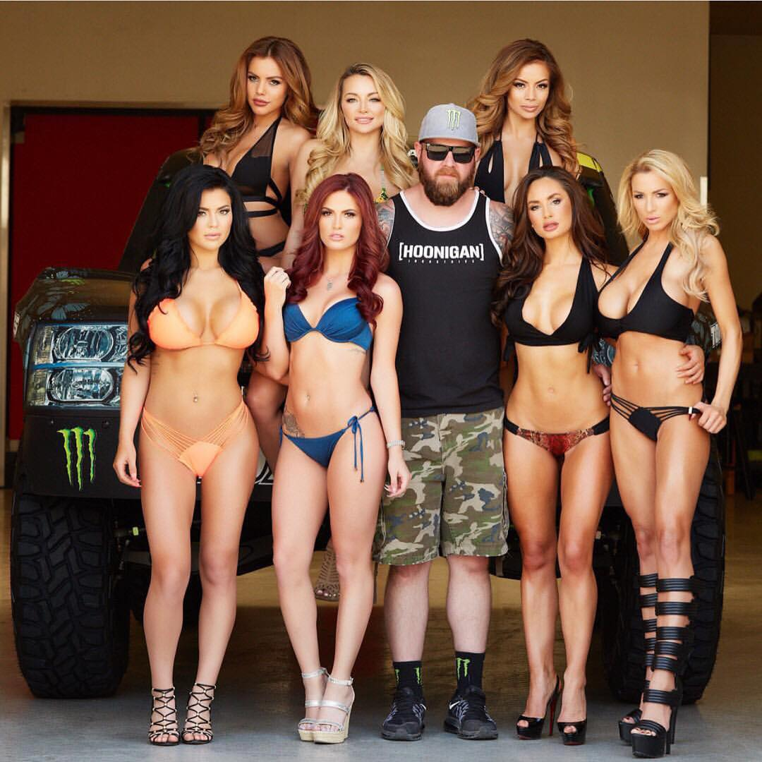 Did anyone else notice that @bjbaldwin is in this photo? #supporthooniganism ____ Hoonigan tanks & more on #HooniganDOTcom
