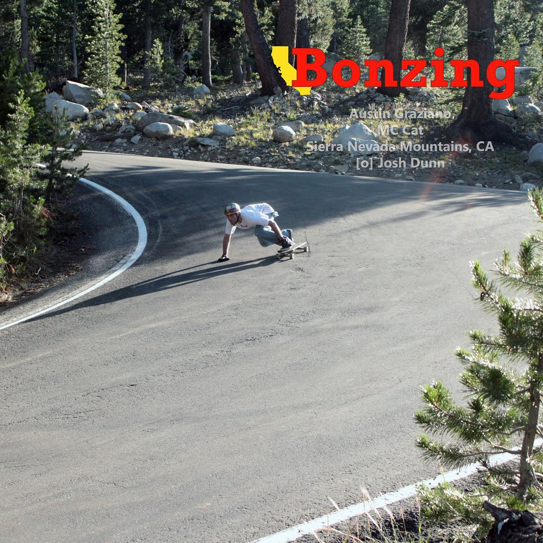 Wallpaper Wednesday: August!  Team Bonzing took a trip up to the Sierras to do some exploring and get fast! We captured Bonzing owner and founder Austin Graziano--@austin_bonzing hitting a steep and heavy right! He is riding out most new skateboard the...