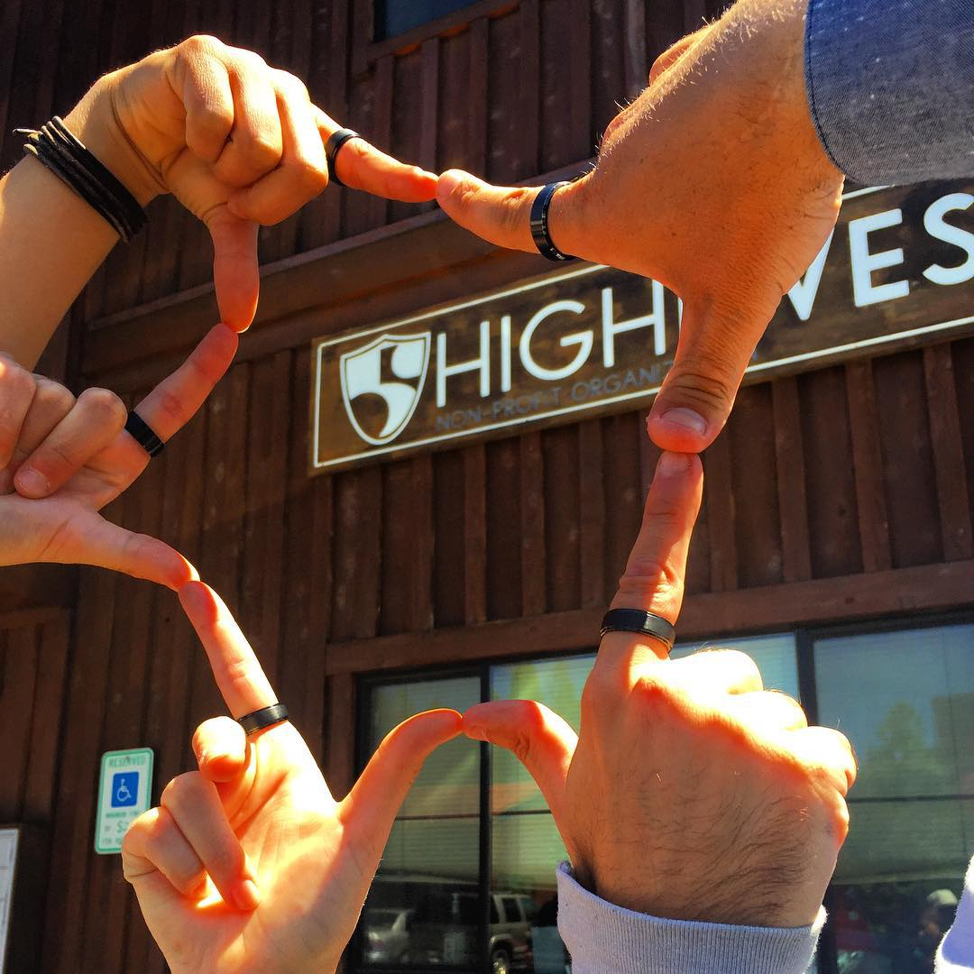 The whole High Fives crew is proud to support our @022kill rings! They honor those who serve(d) while raising awareness for Veteran Suicide prevention. #22kill