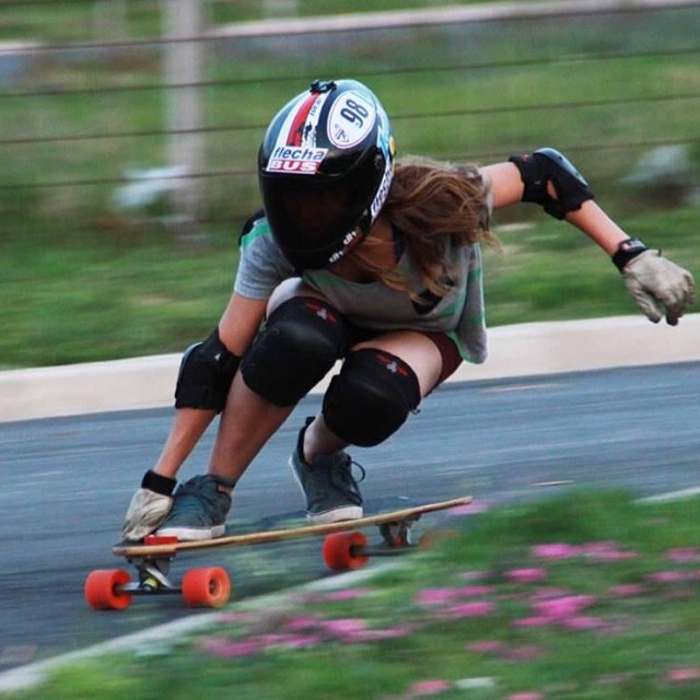 Juli Arlettaz from #longboardgirlscrew #Argentina! Pic source DHC Skateboarding Team