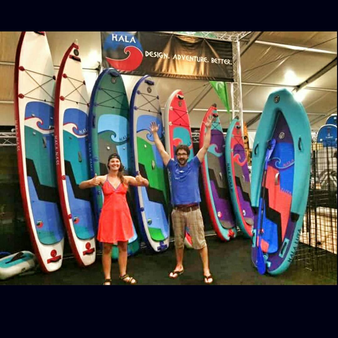 2016 Hala Gear boards at #outdoorretailer ! Come stop by the booth #PV1115 and D320! Check out the new boards! #ORshow #ORSM15 #whitewaterdesigned #adventuredesigned