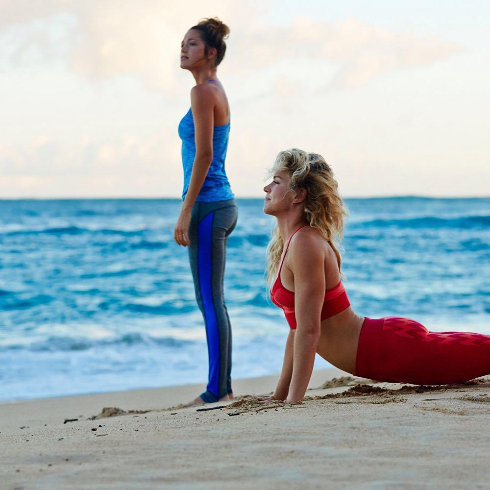 Sun-kissed sun salutations #ROXYfitness  roxy.com/fitness