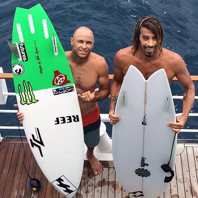 "@shanedorian: ""I've been surfing with this guy @daverasta for a lot of years. I'm always baffled by his unique approach and natural instinct on waves. Never woulda thought I'd be surfing against him in a final with both of us on twinnies. Awesome day..."