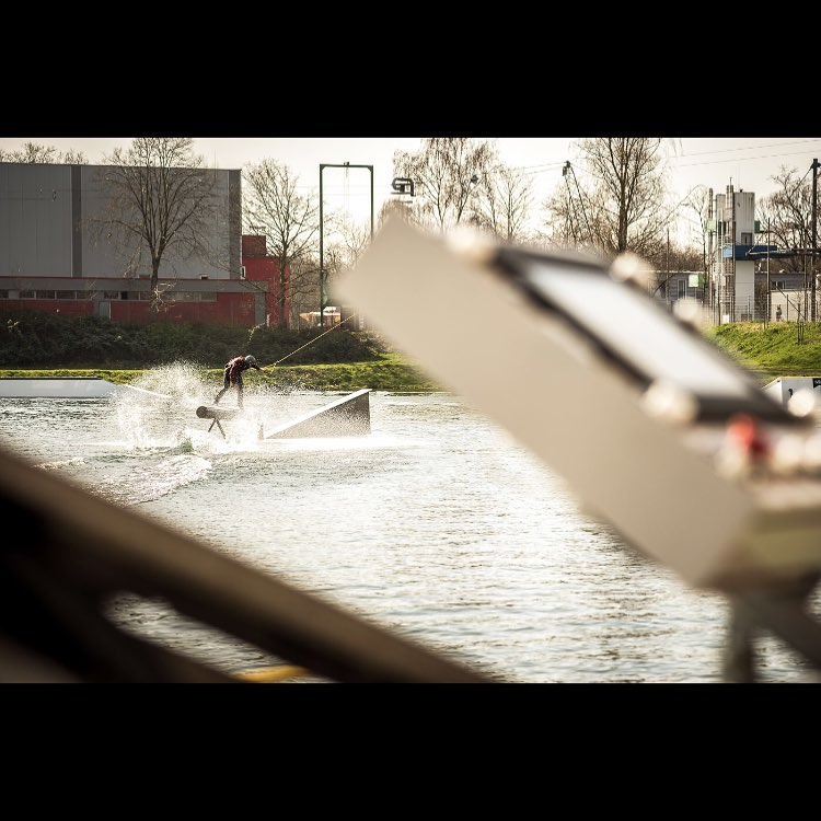 An operators view of @livesimple on the decline/incline from #TheRenovation #wakeboarding