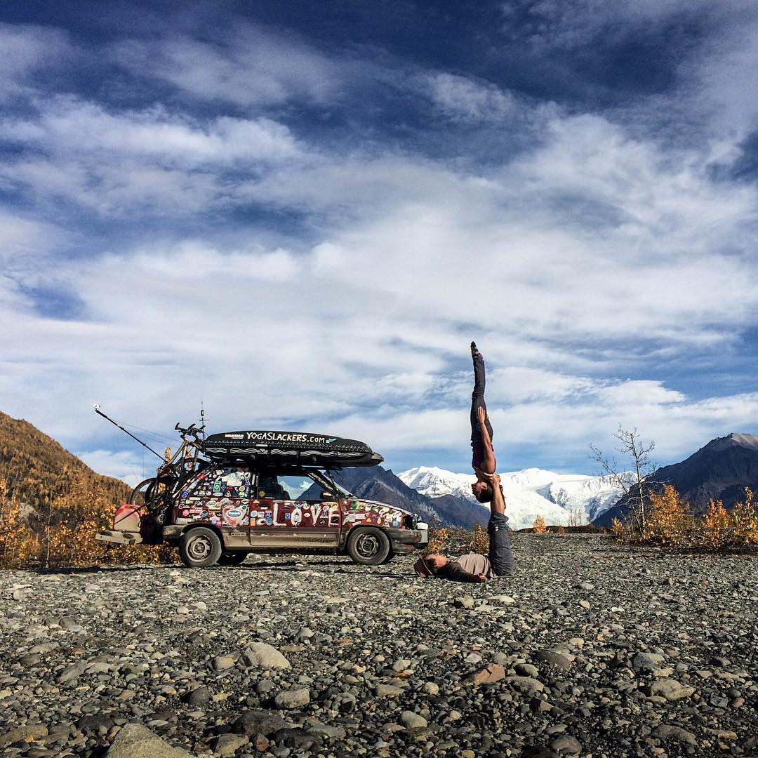 The Peace Love Car traveled over 45,000 miles in 2014. Check out Episode One of the journey using the link in the @poweredbyyoga bio to take a peak at some of the adventures that went down!