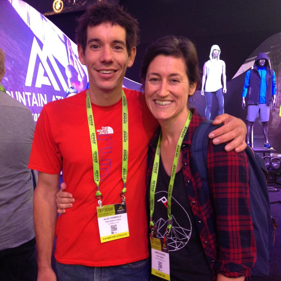 @alexhonnold amazing meeting you at #orshow. You inspire us to push the limits in everything we do.