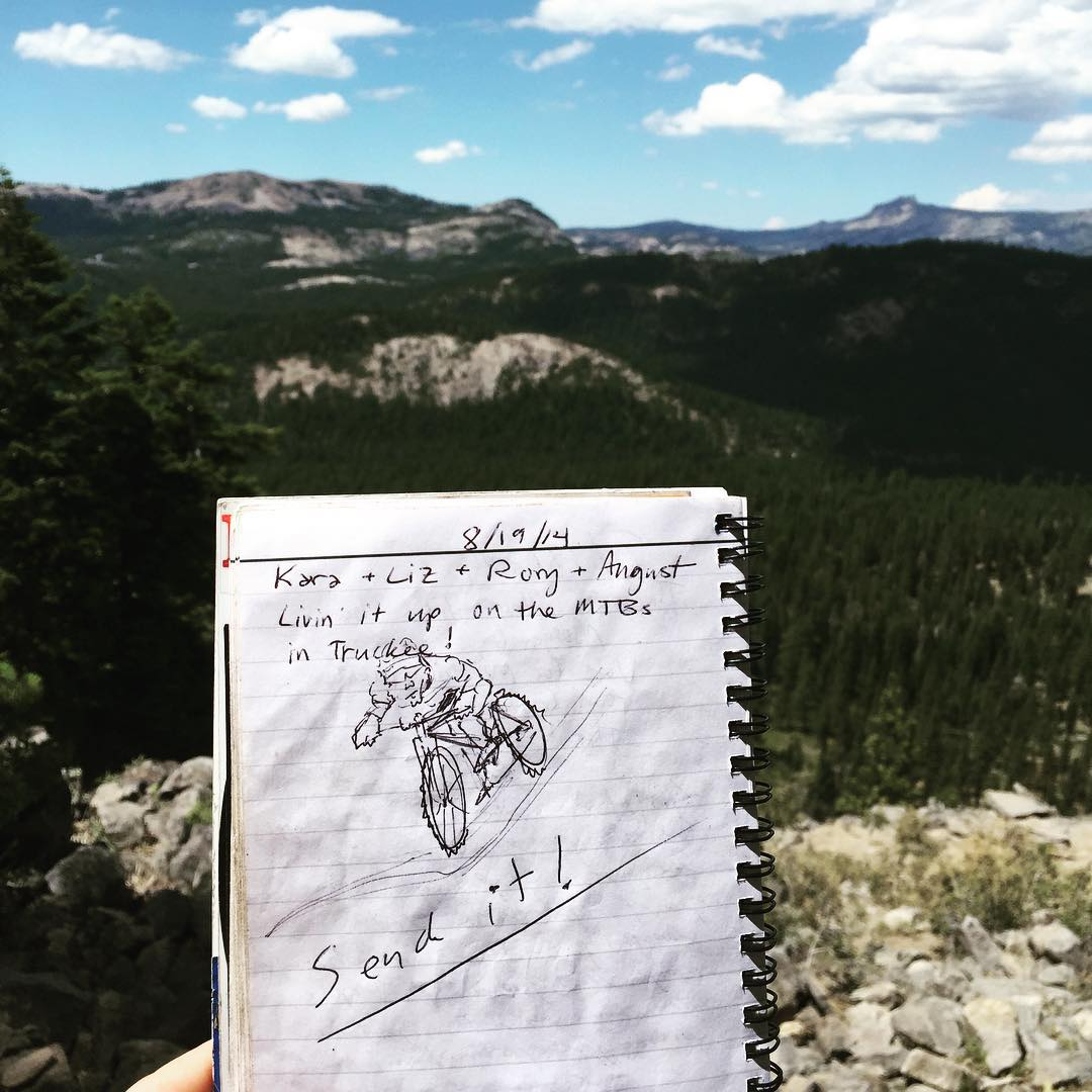 Love what you find in the goodie box at the top of the trail... Send it! #sendit #senditfoundation #truckee