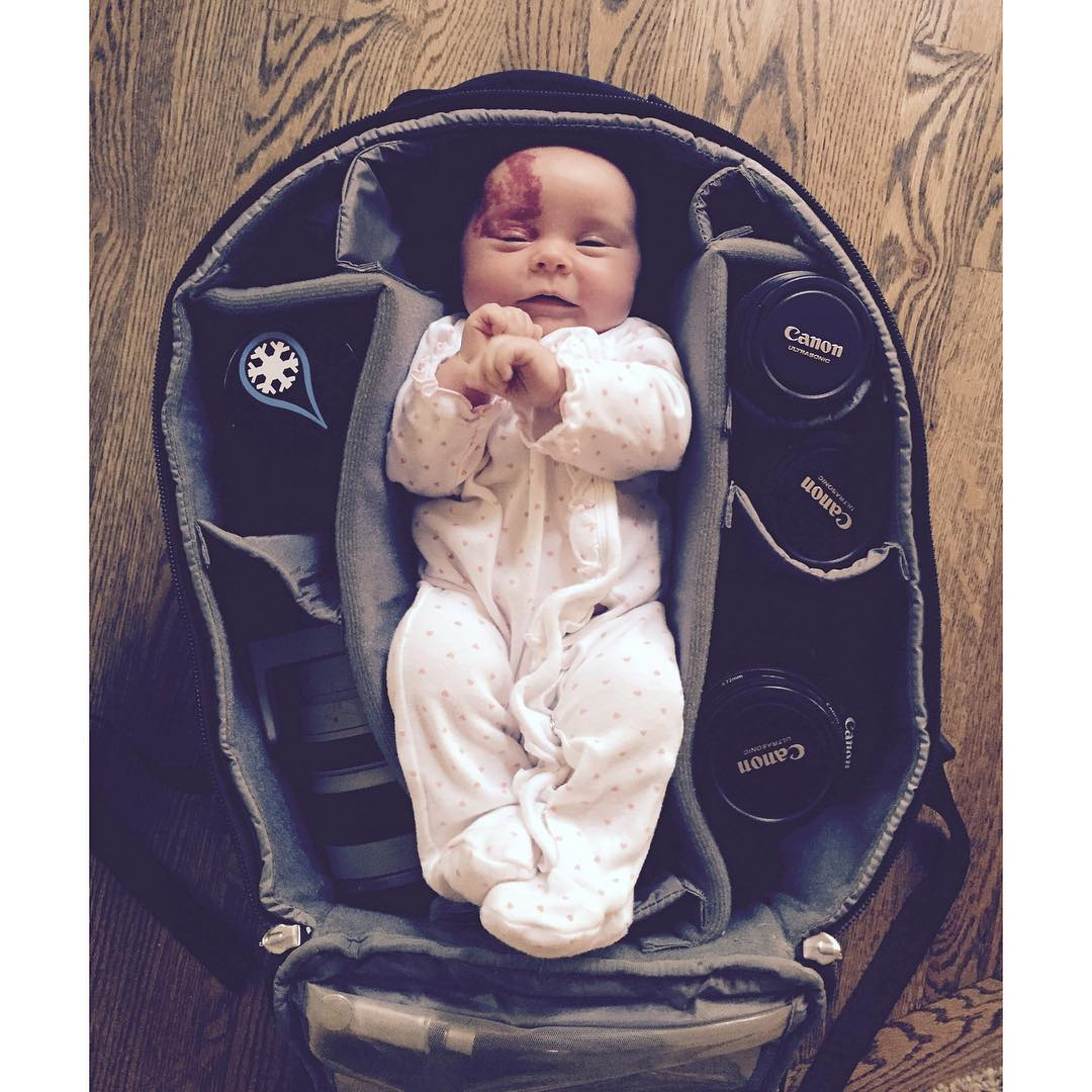 Packed and ready for the next Kind Design adventure! #kinddesign #coloradobaby #babyincamerabag #liveyourdream