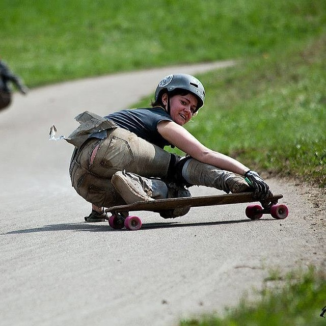 Happy bday to our very own Glori Fiziert from #longboardgirlscrew #Austria (but originally from Germany) cause she never looses her smile, not even with broken pants. Yvonne Langner photo #longboardproblems