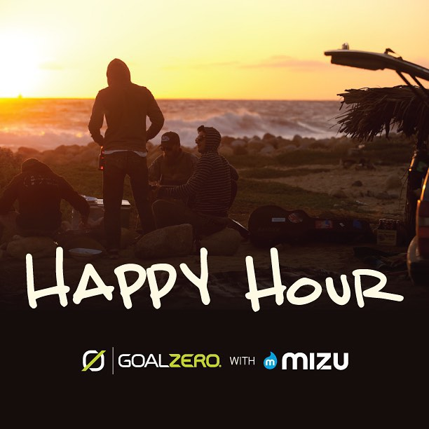If you're at Outdoor Retailer then come party with us and @mizulife today for our happy hour. Drinks and high fives with our ambassadors @alexhonnold @chrisburkard  @meg_haywoodsullivan @travisburkephotography and more! We are in the ballroom at booth...