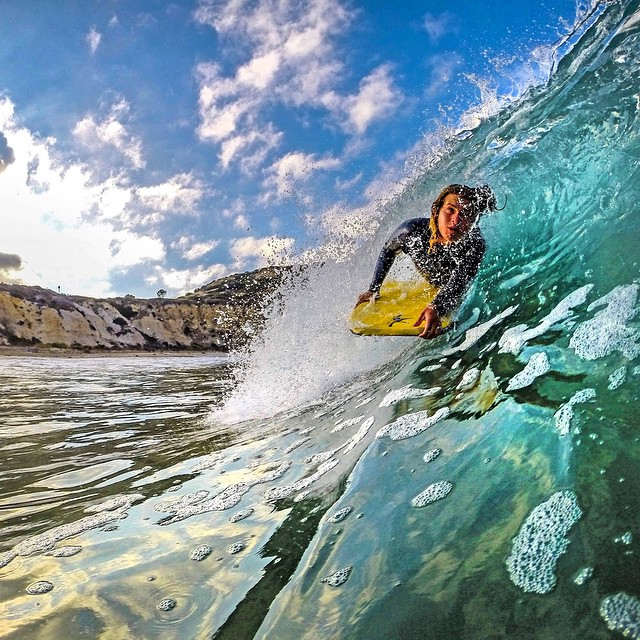 Fun morning bodyboarding at Crystal Cove State Park in California. Photo: @overboarddad GoPro HERO4 | GoPole Bobber #gopro #hero4 #gopole #gopolebobber #bodyboarding