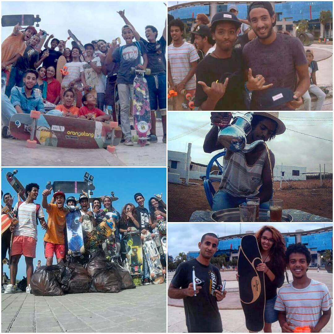 #LoadedAmbassador @yassineboundouq has made some progress on his push trip up the coast of Morocco! Stopped in Rabat to organize a group push, picking up trash left in the streets along the way!  Keep up the stellar work over there...