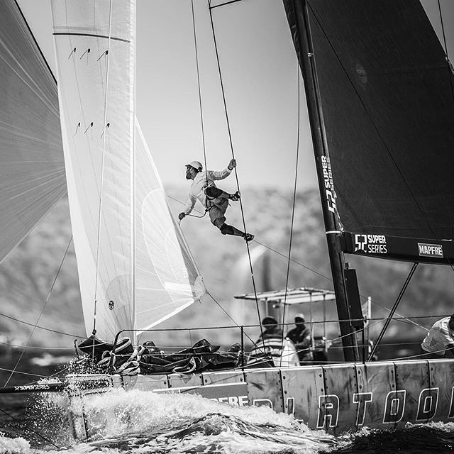 #regram @52superseries // @north_sails  doing what they do best. #fromsailstobags