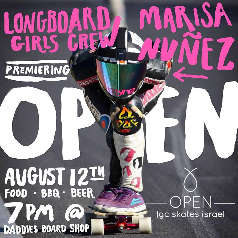 Yas!! OPEN Portland premiere next Wednesday August 12 hosted by @daddiesboardshop!  Go to www.longboardgirlscrew.com to check all details for a day full of skate, bbq, friends & good times.  OPEN riders @cocomarii & @iamcindyzhou will be there. SEE...
