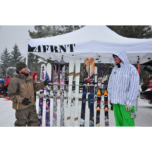 #TBT to 2009 @matt_sterbenz with #vinnydorion hosting an on-snow demo at his hometown resort @montsaintsauveur. This past Fall, Vinny was inducted into the Quebec Ski Hall of Fame.