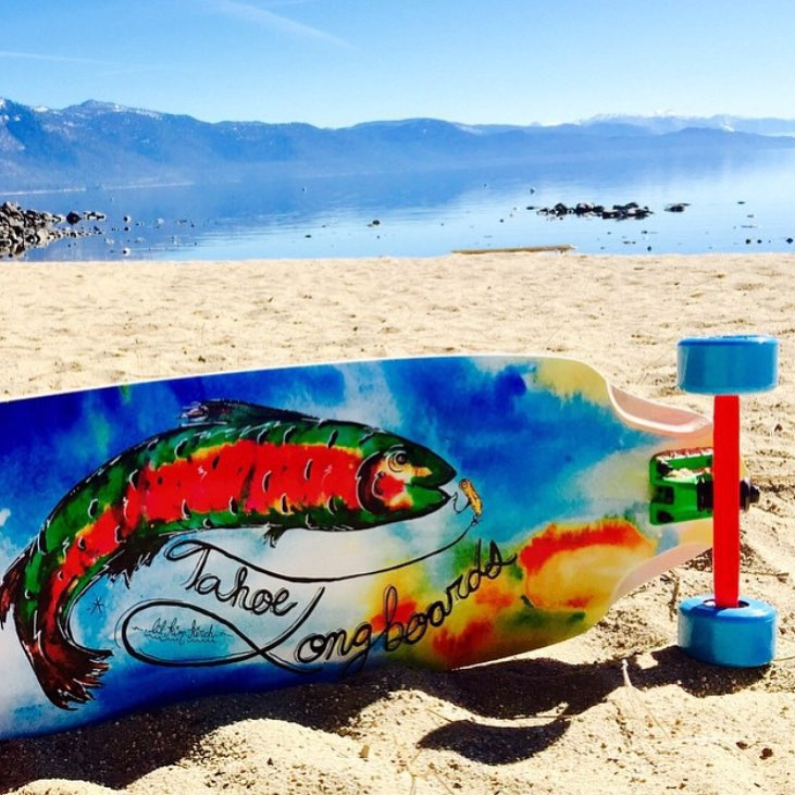 Do you want to ride a brand new longboard at B4BC's 11th annual Skate the Lake longboard-a-thon next weekend?  Anyone who fundraises $500 by the end of this weekend will be entered in a VIP raffle to win a @TahoeLongboards complete board, with artwork...