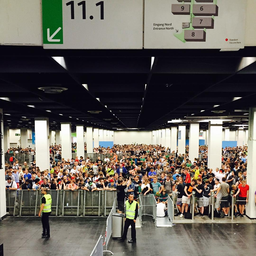 Soooo, #GamesCom2015, here in Cologne, is kind of wild! This is part of the line to get in (there'll be over 400,000 people here over the next few days), these people have been here since early this AM just to be some of the first on the floor. As soon...
