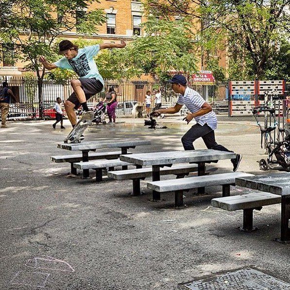 Skate like you mean it. Repost from @zooyorkofficial. @ronaldjohndeily @rbumali #skate #skater #sk8 #skateboard #skateboarding #shred #skatelife #streetskate #zooyork #community #fun #rbumali #lifeskills #determination #underthehudson #skatetricks #nyc...