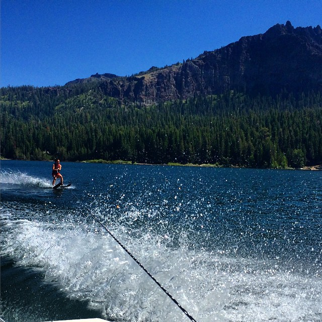 First time standing up on water skis! I have a long way to go but had a blast on #silverlake. #widestance #pizzafrenchfry #faceplant #summerlove @kirkwoodmtn @epicbar @dakine @stcrossfit @neversummerindustries @oakleywomen