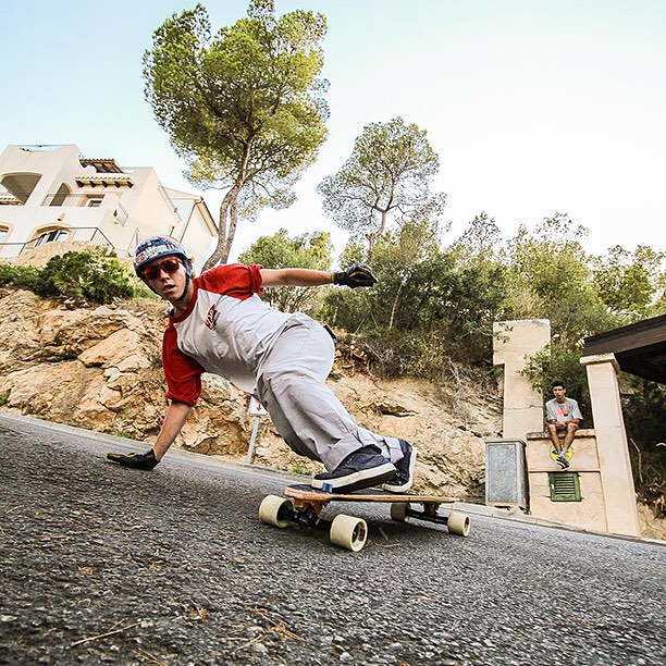 @toni_conte on the Stalker V2 in Andrax, Mallorca. Photo by Ruben Guirado #longboard #longboarding #longboarder #dblongboards #goskate #skateboard #skateeveryday