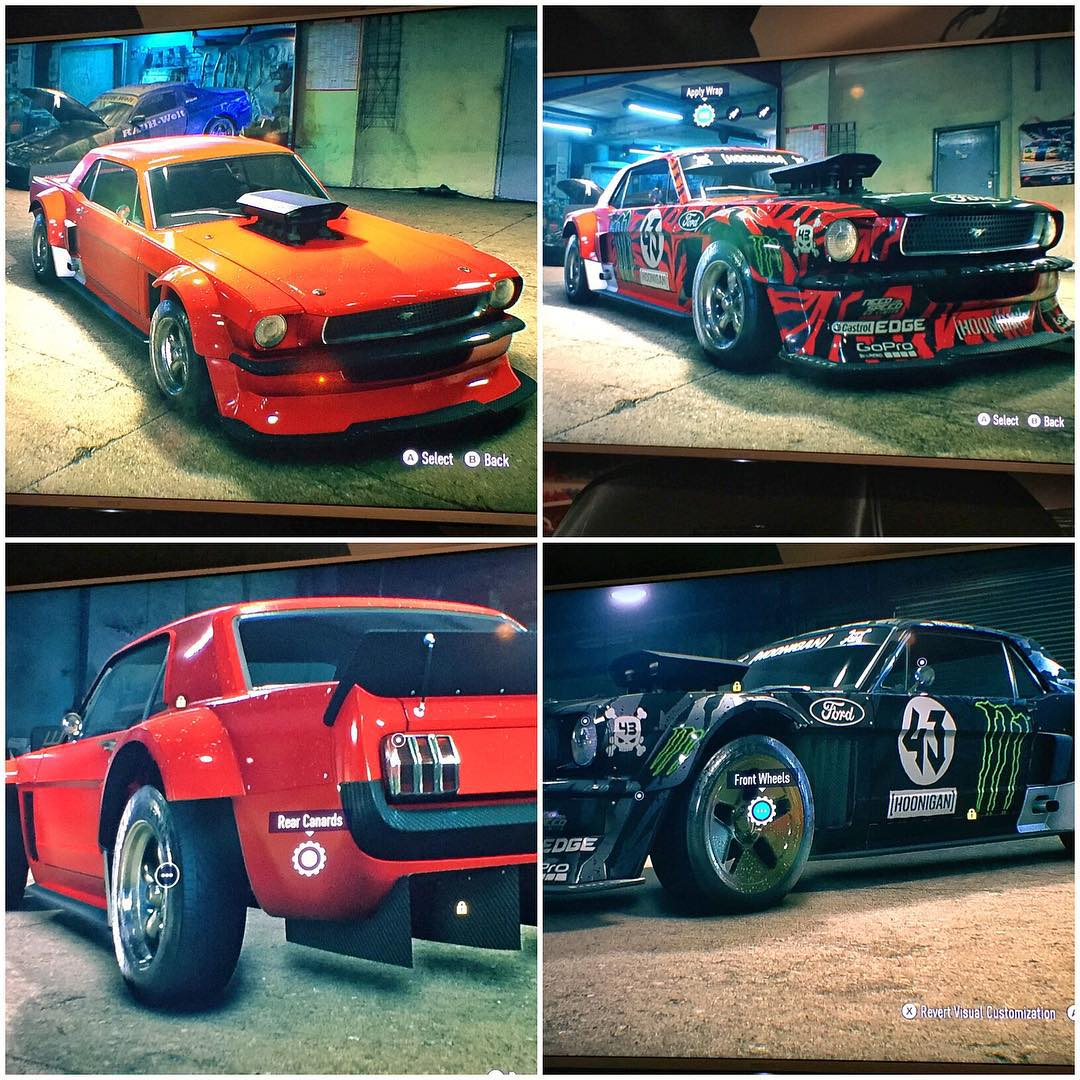 As you can see here, my Ford Mustang Hoonicorn RTR is customizable in the new @NeedForSpeed. I think I still prefer the black on black look though! #ladyinred #GamesCom2015 #NeedForSpeed