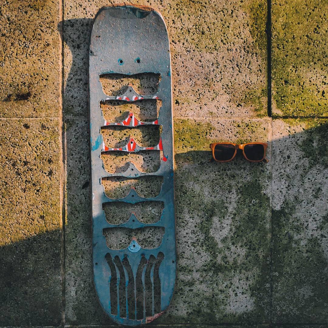 --Old Skateboard = New Sunglasses-- #recycledskateboards  #recycledsunglasses  #sunglasses  #maplewood  #recycled #skateboarding  #art  #artskateboards