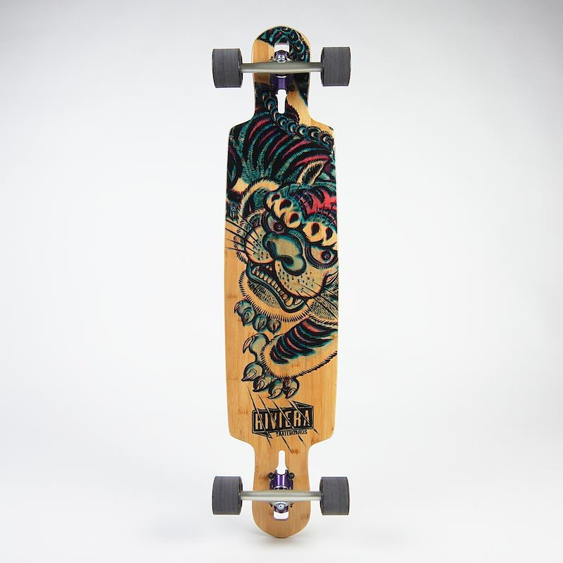 Our Kung Fu Kitty kicks @$$ on the streets!  This bamboo drop-thru set up is the perfect board to push full speed through the back streets and cuts of your favorite city surroundings.  Just the right amount of flex and strength to utilize while...