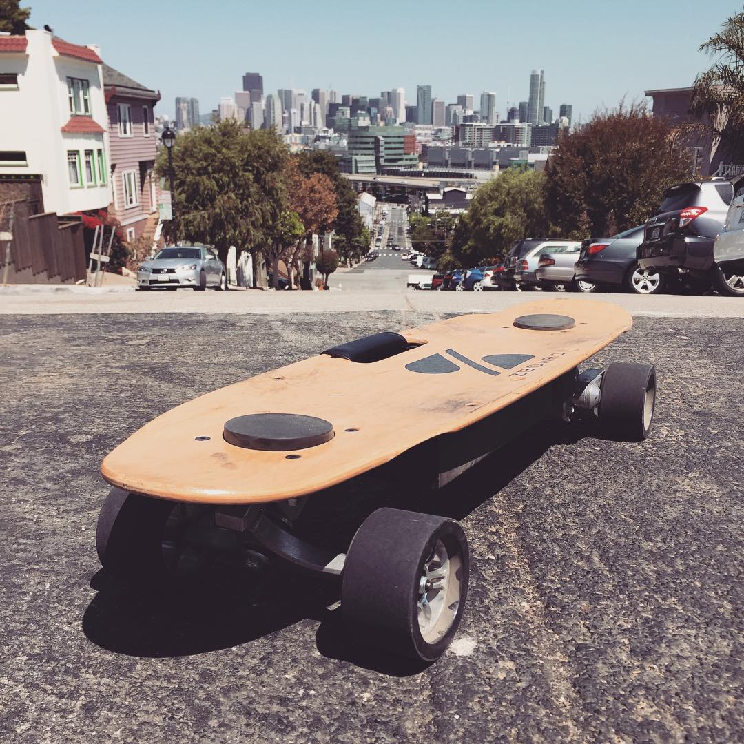Sometimes riding in SF you just have to stop and enjoy the view #zboard