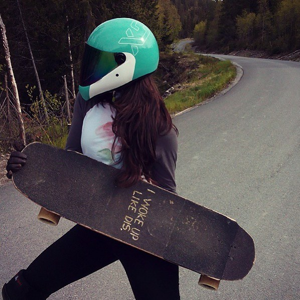 Ready-set-go! Team rider @sonsomasia all geared up and ready for the weekend. #xshelmets #DH6 #girlswhoshred #skate #longboardgirlscrew #longboard
