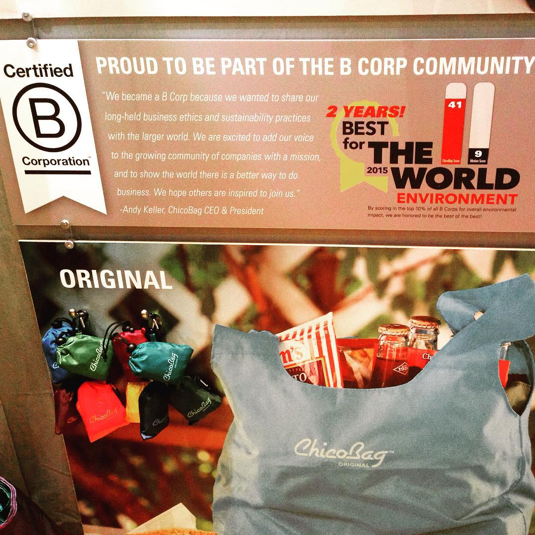 helping humanity bag the single use habit. looking fly @chicobag at Outdoor Retailer: Summer Market. #BtheChange
