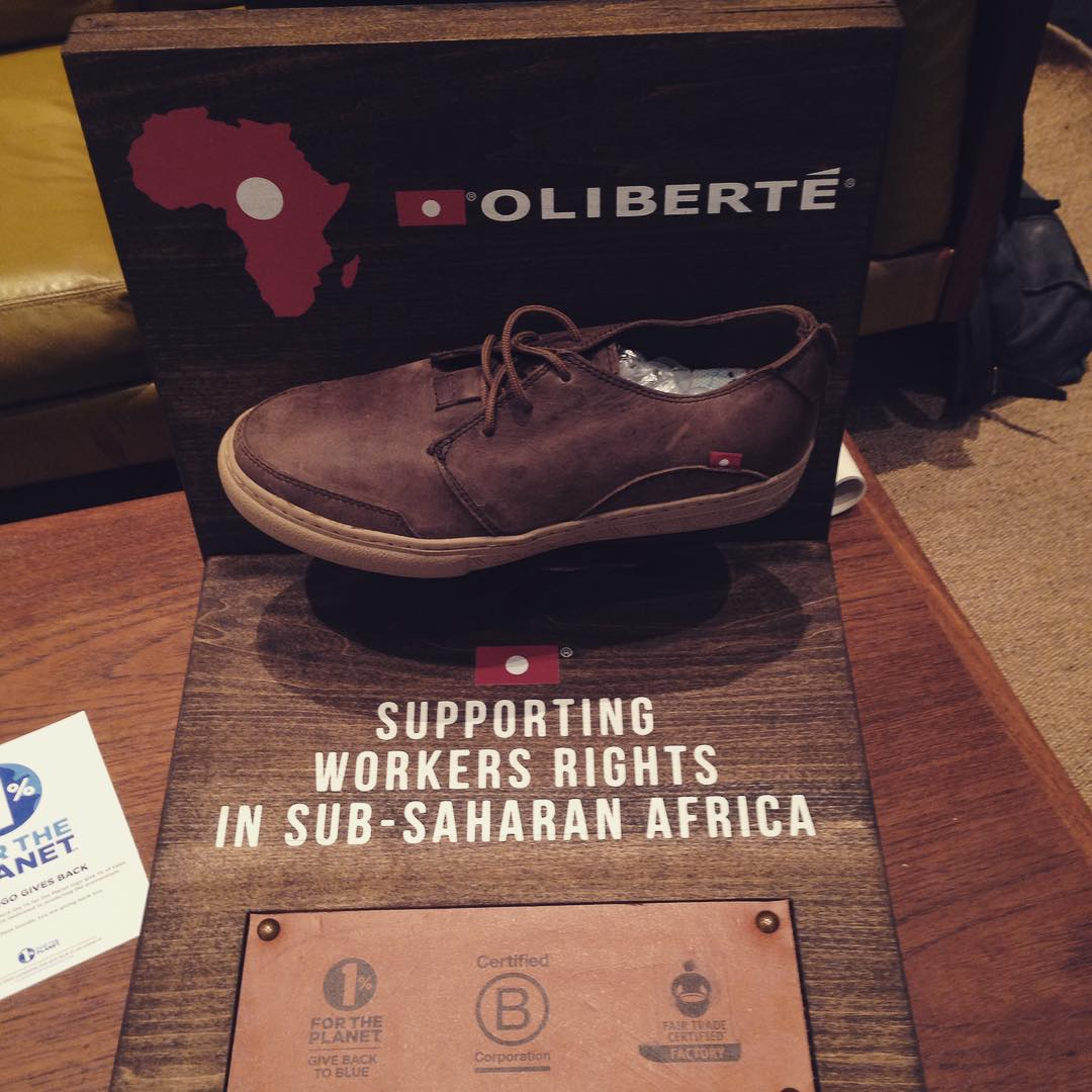 looking good @oliberte at Outdoor Retailer! #BtheChange world's first fair trade certified footwear manufacturing factory.