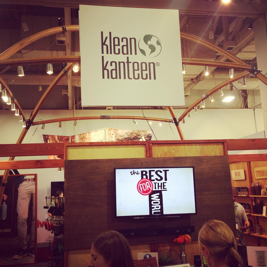 @kleankanteen always setting the bar high w/ their #BCorp love at the trade shows. #BtheChange #BringYourOwn b/c in 24 seconds, Americans will use 44,110 disposable coffee cups.