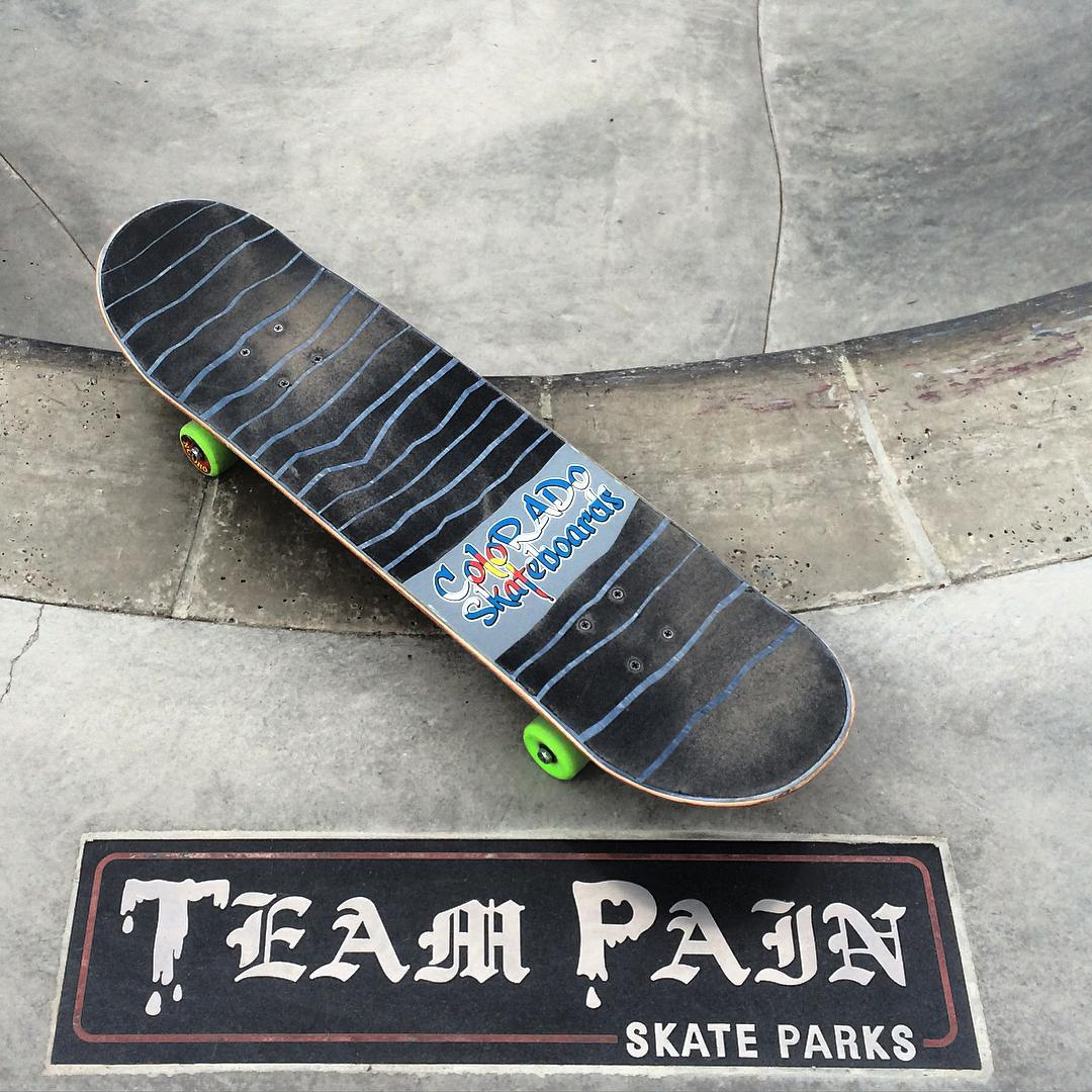Like peanut butter n jelly... co sk8boards n team pain #coloradoskateboards #skateboardingrules