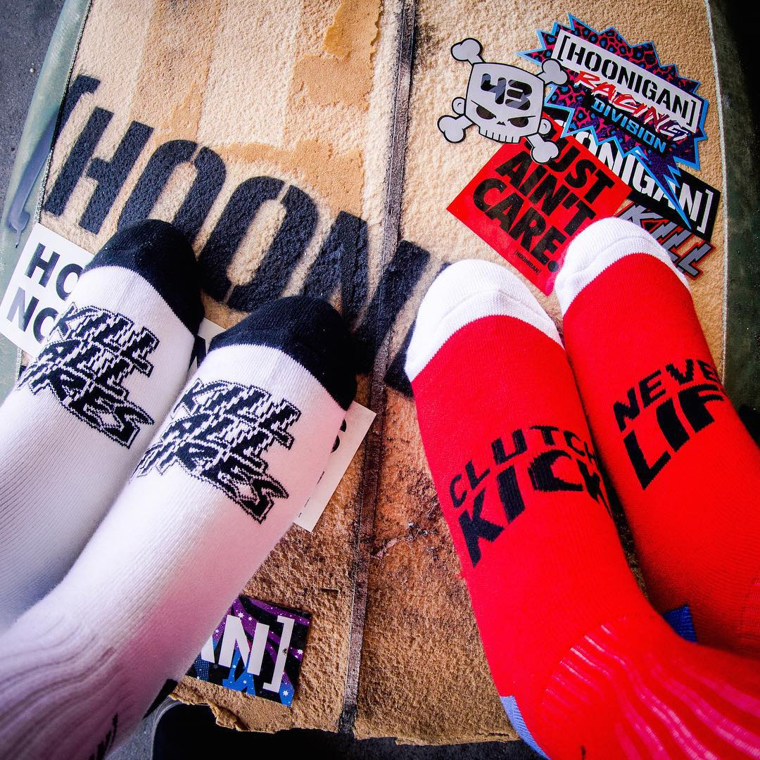 Motivational socks. Available on our webstore and at the raddest of retailers. (Click Link in Bio)