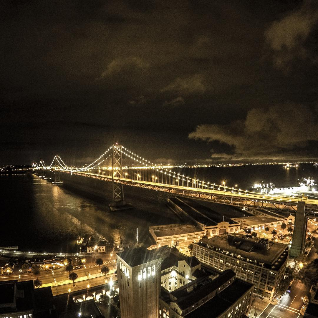 GoPro Featured Photographer - @mishavladimirskiy  About the shot: I was hanging out late night at a friends and saw the view of the Bay Bridge.  I love doing long exposure shots something about being able to see in the dark and how lights interact with...