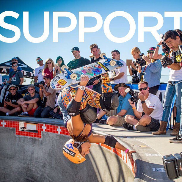 Exposure not only provides a competitive environment for women skateboarders but also a support system to cheer all skaters on! ✊