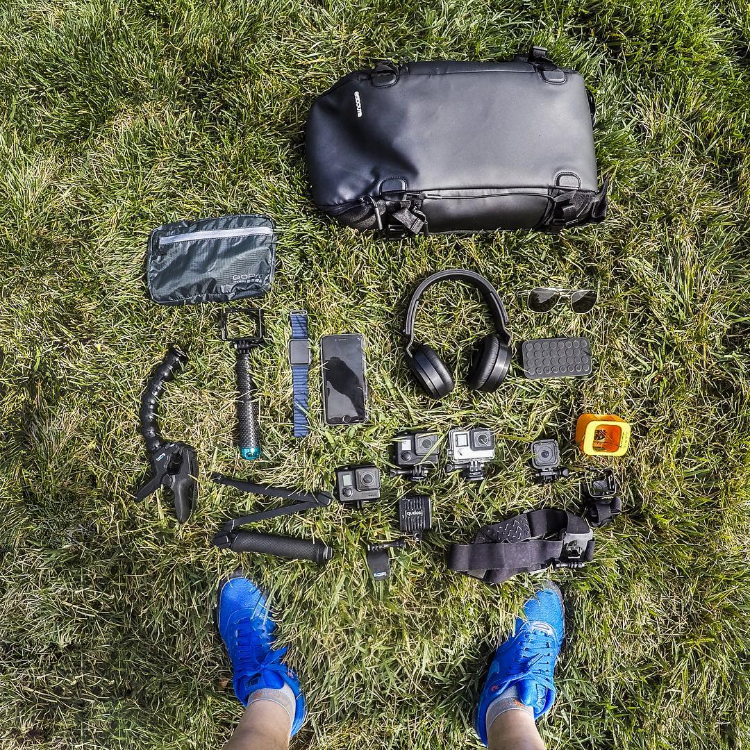 GoPro Featured Photographer - @mishavladimirskiy  @outside_lands Pocket Dump!  Here's a look at my festival GoPro kit: I usually have a few different GoPro's. A couple HERO4 Blacks with the Blackout Housing, a HERO4 Silver, and the new HERO4 Session....