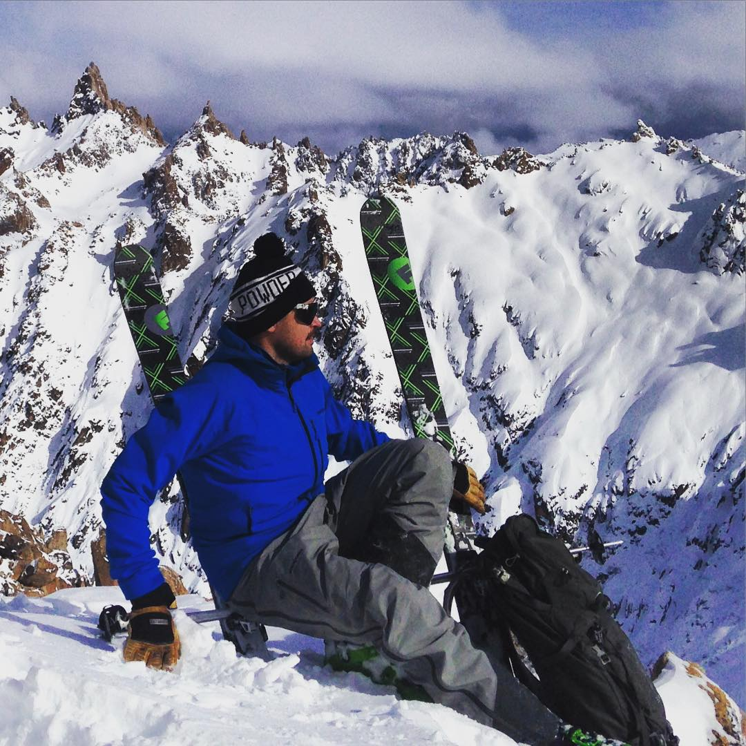 Folsom Customs now makes custom benches for great views, and  they even double as custom skis!! Partner @jessedurrance models our new custom bench on top of #cerrocatedral #bariloche