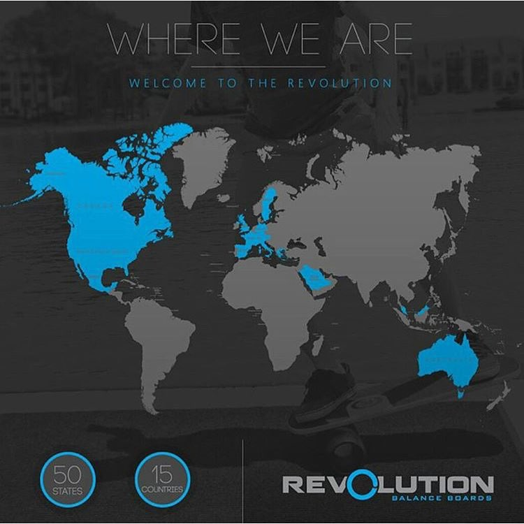Find us in all 50 states and 15 countries! Welcome to the R E V O L U T I O N