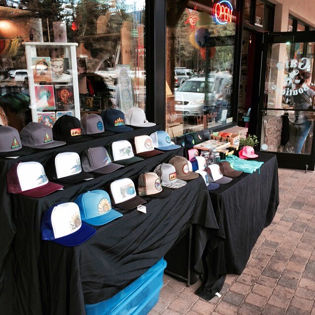 Hanging out @gaialicious for #firstfriday . #risedesigns #hats