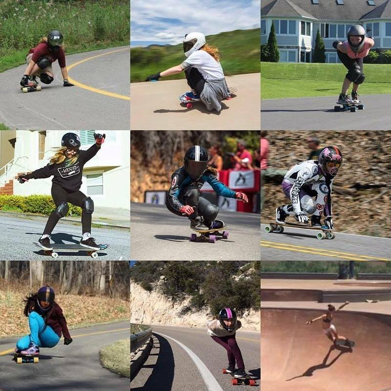 Introducing @girlsgonefast! Go to longboardgirlscrew.com to check this group of women who got together to skate and spread stoke. Also check their GoFundMe campaign out to get support for their first project, a trip to the Maryhill...