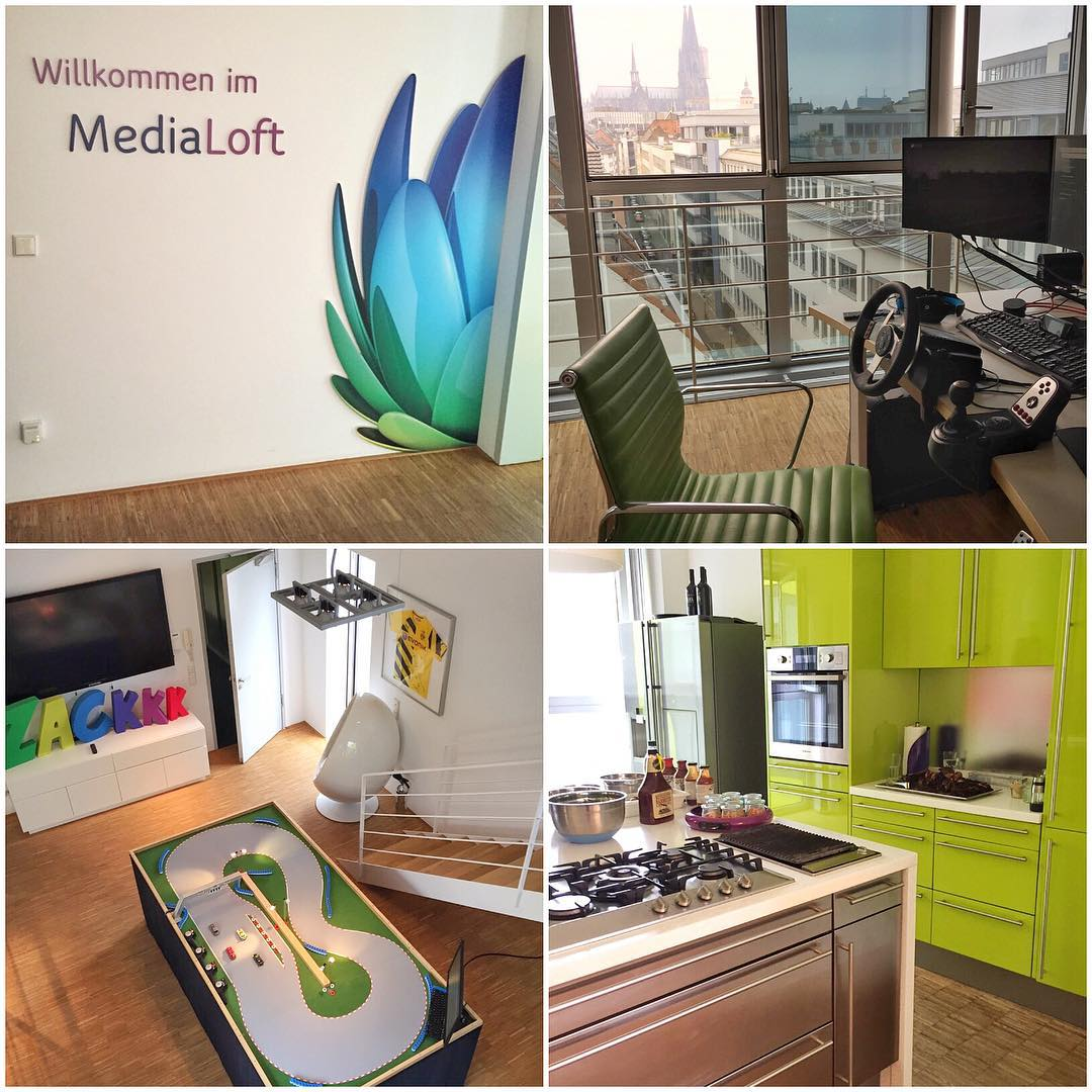 "I visited a very cool place today here in Cologne. One of my partners here, Unity Media, has this dope ""media loft"" in the center of the city. It's a full, modern building that's been turned into a meeting space, guest house and marketing office..."