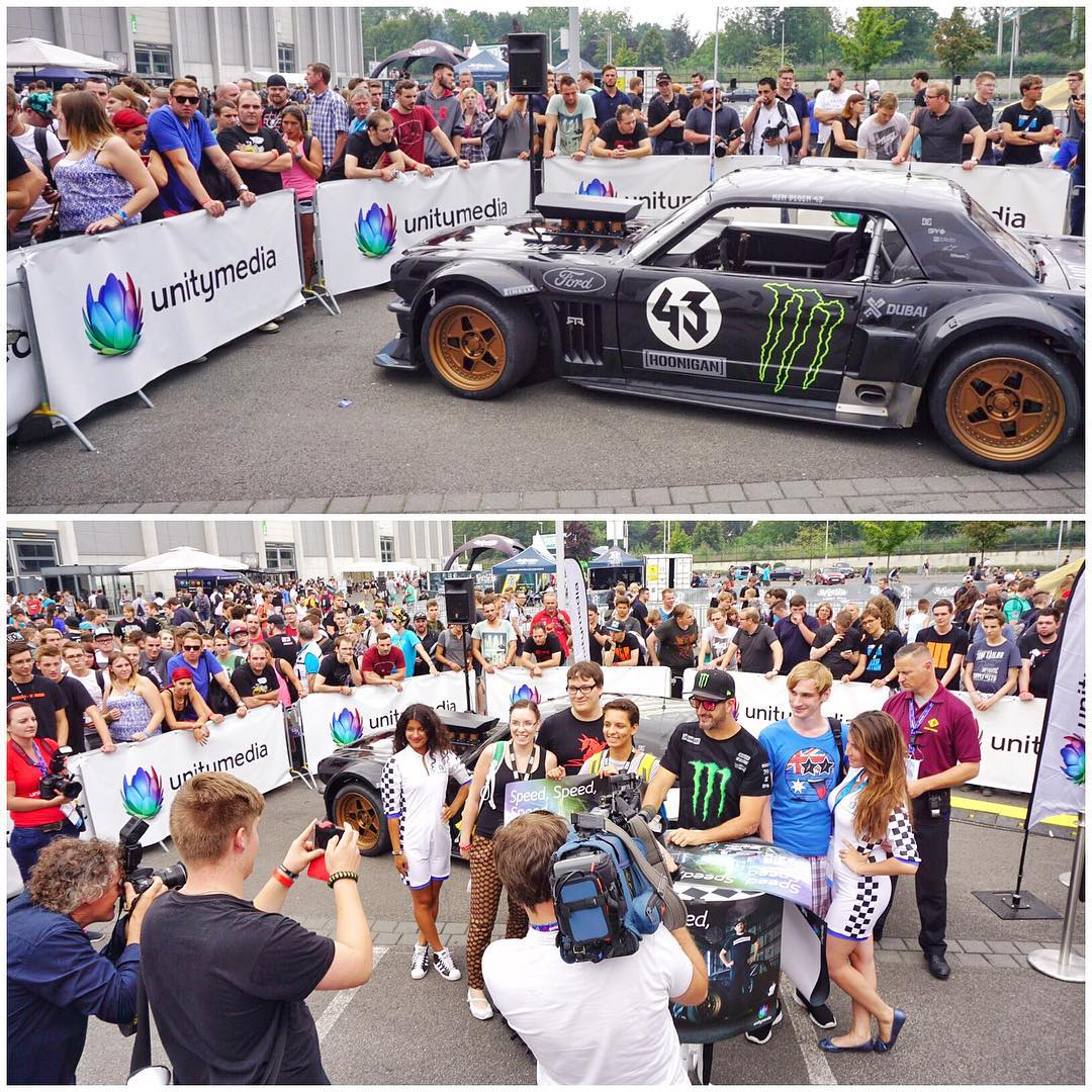 A big thanks to all the fans at #GamesCom2015 who came by the Unity Media stand today (it's outside of Gate A) to check out my Ford Mustang Hoonicorn RTR and grab an autograph. I had a blast visiting GamesCom this weekend. If you missed seeing the...
