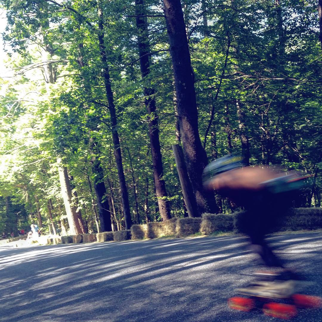 It's race day at #CentralMass6 and everyone has turned into a blur.  Unknown rider breaking the speed of sound as he descends into the final corner.  #Orange #Kegels #Orangatang #CM6
