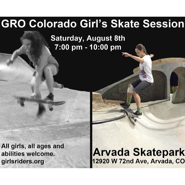 See you tonight!!! #ridetrue #girlsthatskate #colorado #ladiesnight #skateboarding