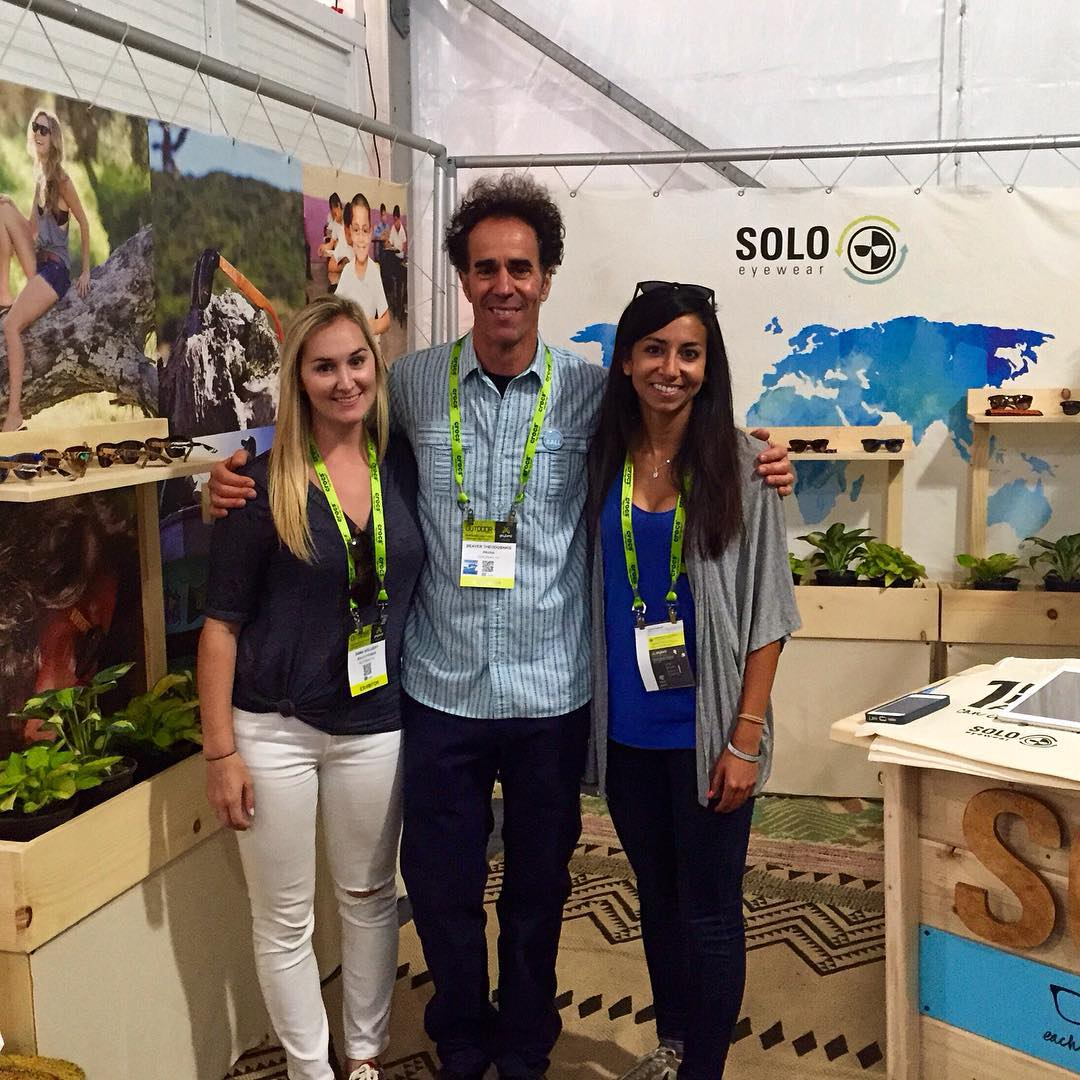 Outdoor Retailer is wrapping up today! Our founders, Jenny and Dana, we're stoked to get a visit from an amazing mentor, Beaver Theodosakis, Founder of Prana and Spy Optic. Lots of good vibes over here!!